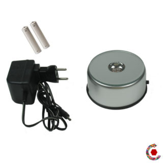 LED turntable on batteries or 230 vac