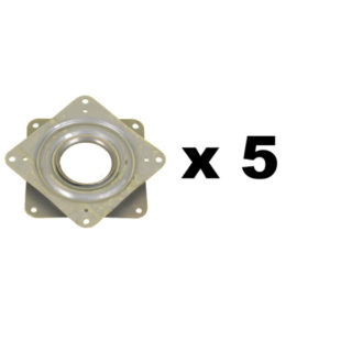 Square manual turntable 76x76 mm in pack of 5