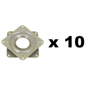 Square manual turntable 76x76 mm in pack of 10