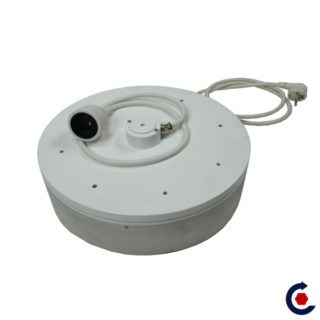 Rotating turntable with rotating electrical inlet FANTASTIC MOTORS
