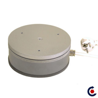 Turntable ECONOMIC load 30 kg 2tr / min (PVC Steel Medium tinted)