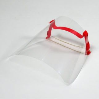 Projection protection visor