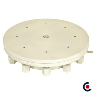 Motorized turntable for volume load up to 33000lb. FANTASTIC MOTORS