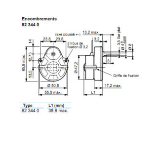 Crouzet 82344.0  12 tr/min - 220 Vac sens inv
