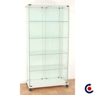 Tempered glass display case with 4 adjustable height shelves. Fantastic Motors